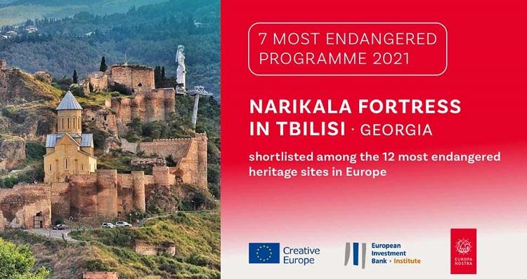 Narikala Fortress among 7 most endangered  cultural heritage sites Europe