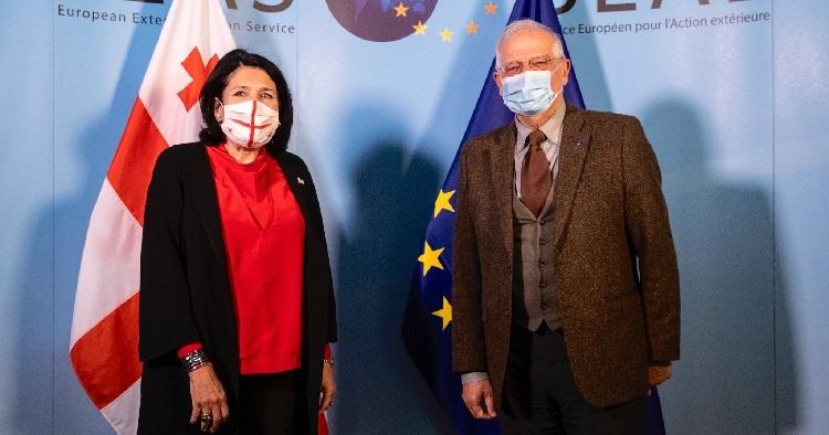 President Zurabishvili meets EU officials in Brussels