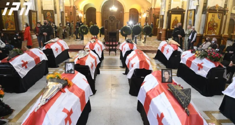 Remains of 13 individuals missing in Abkhaz war laid to rest