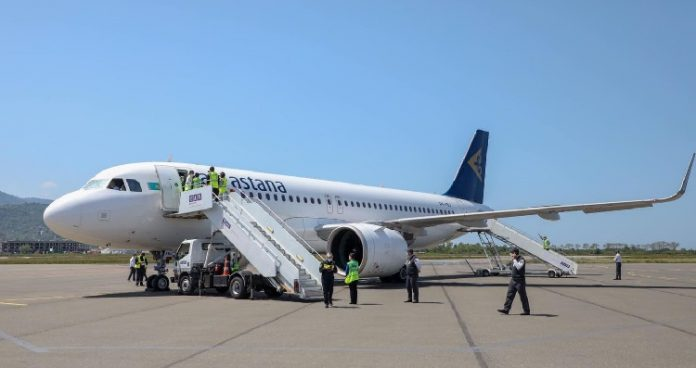 Air Astana makes first direct Almaty-Batumi flight