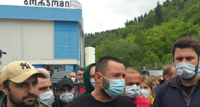 Borjomi suspends operation of both factories while workers on strike