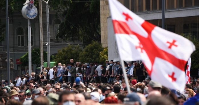 Namakhvani HPP protesters gather in Tbilisi, call on gov't to fulfil demands by 12 p.m. May 24